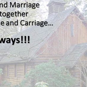 Credit and marriage go together like a horse and carriage. Not always!!!!